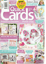 QUICK CARDS MADE EASY, SEPTEMBER, 2015  ( YOUR FAVORITE CARD MAKING MAGAZINE )