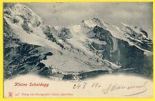 cpa Dos 1900 SUISSE SCHWEIZ SWITZERLAND Kleine Scheidegg Photo GABLER Interlaken