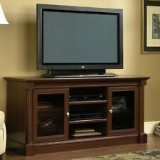 TV Stand For Flat Screens up to 60 Inch Wide LED Large Media Cabinet With Doors