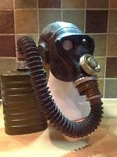 PRW-U  SOVIET BLACK GAS MASK ,FILTER AND BAG