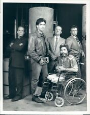 1987 Primary Cast of Wiseguys 1980s TV Ken Wahl J Banks R Sharkey Press Photo