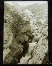 Glass Magic lantern Slide  RHEIDOL GORGE NORTH WALES NO2 C1913 WALES