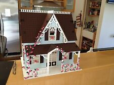 WOODEN PLAIN MDF CHILDRENS DOLLS HOUSE 5 CRAFT PAINT DECORATE TOY DIY