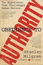 Obedience to Authority An Experimental View (Perennial Classics), New