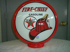 gas pump globe Texaco Fire Chief repro. 2 GLASS LENS in a plastic body NEW