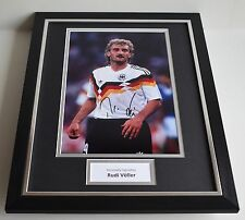 Rudi Voller SIGNED FRAMED Photo Autograph 16x12 display Germany Football AFTAL
