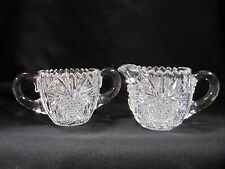 Crystal Cream and Sugar Set Antique