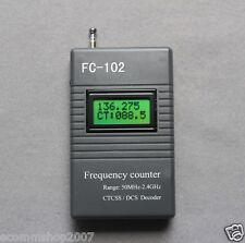 FC-102 Frequency counter Meter CTCSS/DCS Decoder for Radio 50MHz--2.4GHz Kenwood