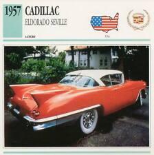 1957 CADILLAC ELDORADO SEVILLE Classic Car Photograph / Information Maxi Card
