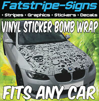 VAUXHALL CORSA B C D VXR STICKER BOMB BONNET WRAP CAR GRAPHICS DECALS STICKERS