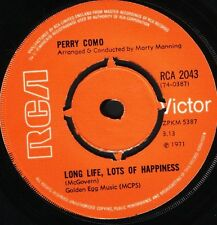 """PERRY COMO long life lots of happiness/it's impossible RCA 2043 uk 7"""" WS EX/"""