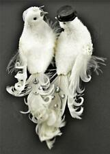 Exquisite Wedding Anniversary Bride & Groom White Lovebirds Doves Decorations