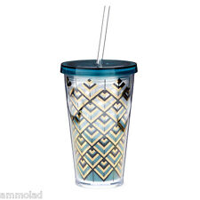 NEW Starbucks Limited Edition Collectable Anniversary Art Deco Plastic Cold Cup
