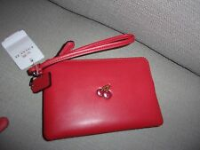 NWT LIMITED EDITION Coach Pac Man Watermelon Leather Wristlet F54841  NWT $ 95