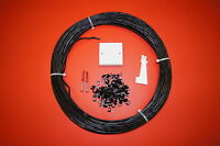 30m Black 2 Pair External Telephone Cable Extension Kit