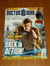DOCTOR WHO INSIDER #1 MAY 2011 BBC PANINI MATT SMITH UK MAGAZINE