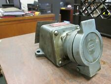 Crouse-Hinds Receptacle w/ Base 30A 460V 3Ph 60Hz Used
