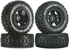 Duratrax Six Pack SC C2 Mounted Tires / Wheels (4) Traxxas Slash 2WD Front Rear