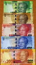 SET South Africa 10;20;50;100;200 rand, ND (2012-2014) P-133-134-135-136-137 UNC