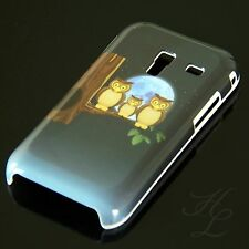 Samsung Galaxy Ace Plus S7500 Hard Handy Case Hülle Cover Etui Mond Eule Owl