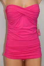 New Tommy Bahama Swimsuit Bikini 1 one piece Sz 8 attached dress Minnie pink