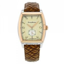 Tommy Bahama TB1220 Leather Basketweave Pineapple Dial Watch - Free Shipping