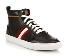 700$ Bally Brown Leather High Tops Sneakers size US 12