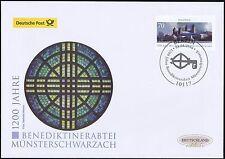 BRD 2016: Münsterschwarzach Post-FDC Nr. 3258 mit Berliner Sonderstempel! 1609
