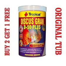 DISCUS GRAN D-50 PLUS Complete Food for Tropical Cichlids GENUINE TUB 250ml/95g