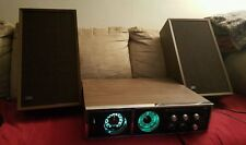 RARE Vintage JVC 4MM 4600 4 Channel Music Center Receiver Tuner w/  speakers