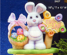 Ceramic Bisque Ready to Paint Eggs for Sale Bunny with base and electric