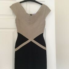 GENUINE Herve Leger Black & Beige Dress Size Small WORN ONCE Small Size 10!!!!