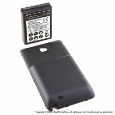 5000mAh extended battery for Samsung Galaxy Note SGH-i717 + Black cover