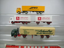 AB177-0,5# 3x Wiking H0 LKW/Modelle: Scania Ipec, MAN Weiss, Volvo Schule, TOP