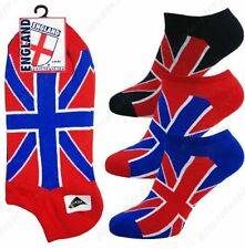 3 PAIRS OF BOYS/LADIES/GIRLS UNION JACK FLAG TRAINER LINER SPORT SOCKS SPORTS
