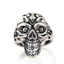 Jewelry US size10 Fashion 316l stainless steel Retro Punk design Skull ring #06