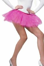 Ladies Tutu 4 layer multi pink blue Neon yellow red dressing up 1980s 80s adult