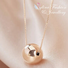 18K Rose Gold Plated Exquisite Single Bead Necklace Fashion Jewellery