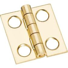 "5 Pk Solid Brass 11/16"" W X 3/4"" H Jewelry Box Small Chest Hinge 4/Pk N211276"