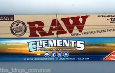 "RAW And ELEMENTS 12"" Inch Large Huge Rolling Papers Classic Natural Unrefined"