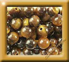 Tigerauge Perlen Kugeln, 2 x 4mm Stein, half drilled, Hälfte gebohrt