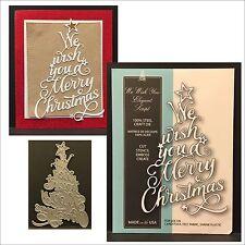 We Wish You Elegant Script die  - Memory Box dies 99555 christmas tree,words