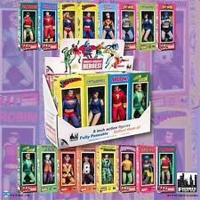 DC Comics Mego Style Boxed 8 Inch Action Figures: Set of all 16 Figures And Box