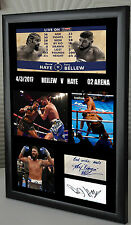"Tony Bellew v David Haye Canvas Print Signed ""Great Souvenir"""