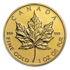 Canada 1 oz Gold Maple Leaf .999 Fine (Random Year) - SKU #95505
