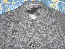 AUTHENTIC CROMBIE TWEED WOOL COVERT COAT CAR PEA MAC JACKET 42 / 44 SHORT VTG