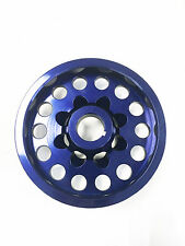 OBX Blue Aluminum Crank Pulley For 2001 2002 2003 2004 Civic DX EX LX 1.7L D17A