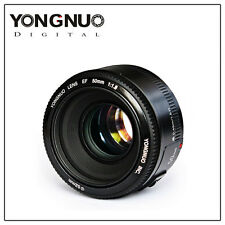 Yongnuo YN EF 50mm AF / MF F/1.8 Prime Fixed Lens for Canon Rebel EOS Camera UK