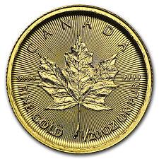 2016 Canada 1/20 oz Gold Maple Leaf BU - SKU #93751