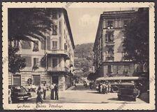 GENOVA CITTÀ 726 NERVI - CORRIERA AUTO d'EPOCA BANCA CREDITO IT. Cartolina 1952